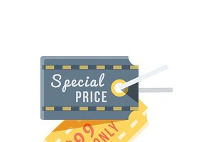 Special Price Tag Design Flat Icon