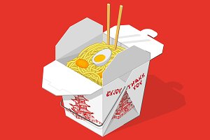 Chinese takeout food box