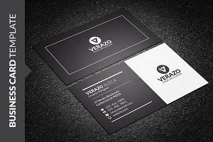 Clean Black & White Business Card