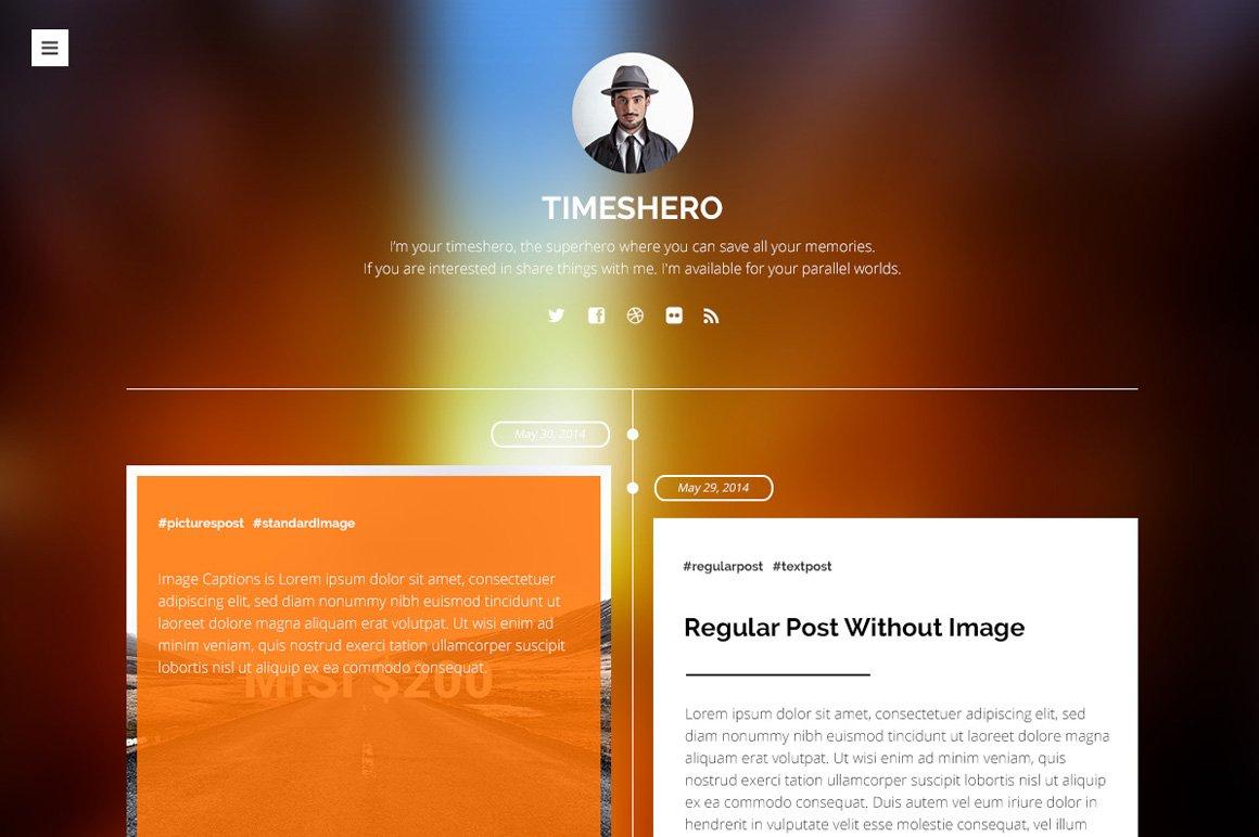 Timeshero Timeline Tumblr Theme Tumblr Themes Creative Market - Timeline blogger template