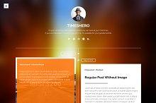 Timeshero - Timeline Tumblr Theme