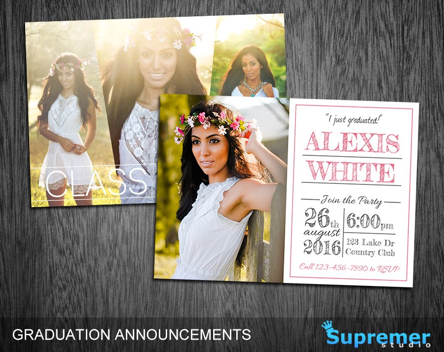 Graduation Announcement Template 01 Invitation Templates – Graduation Announcement Template