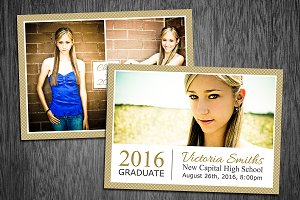Graduation Card Template Photo 04