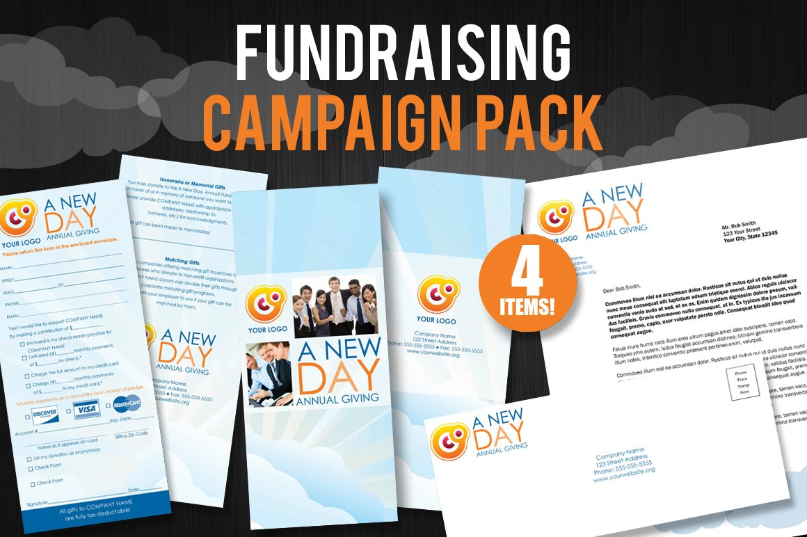 fundraising campaign pack brochure templates creative. Black Bedroom Furniture Sets. Home Design Ideas