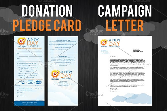 Wedding Donation Cards Templates Non Free Pledge Card