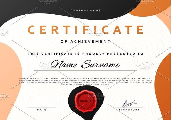 Certificate design Product Mockups on Creative Market – Creative Certificate Designs