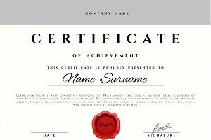 Premium present certificate