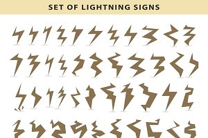 Set bolt icon lightning