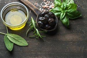 Greek black olives