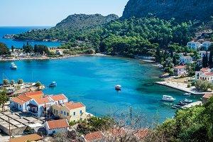 View over Greek islands Kastelorizo