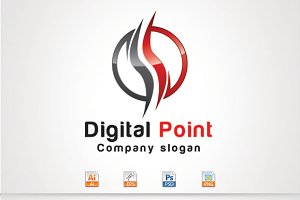 Digital Point,S Letter Logo