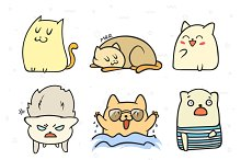 Doodle cats. Funny character