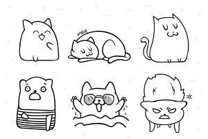 Print cat.   Funny cats