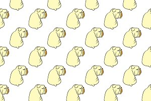Dog pattern seamless