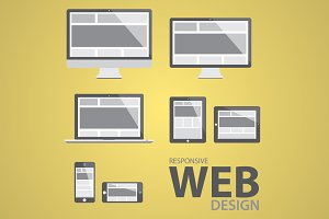 Responsive web design icon set