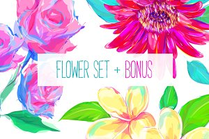 Flower set 1 + Bonus