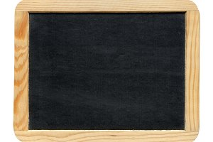 Blackboard in wooden frame