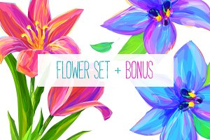 Flower set 2 + Bonus