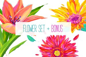 Flower set 3 + Bonus