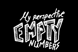 Empty numbers illustrations