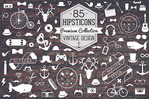 Retro Hipster Icon Set