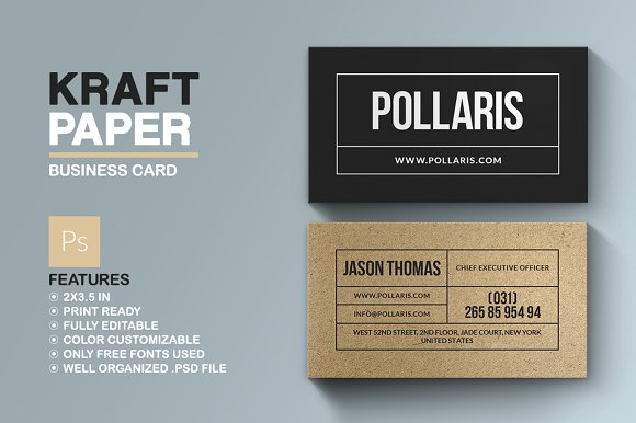 kraft paper business card business cards - Kraft Paper Business Cards