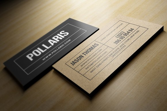 kraft paper business card business card templates creative market - Kraft Paper Business Cards