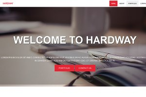 Hardway-Responsive One Page Template