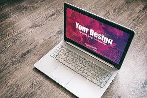 Laptop computer PSD Mockup