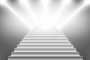 vector illustration of white stairs