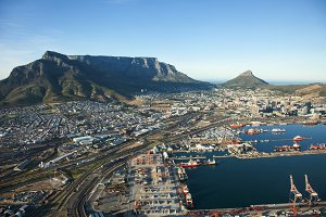 Cape Town Harbour and Table Mountain
