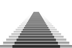 illustration of white stairs,