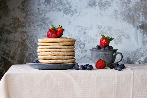 Pancakes with fresh berries
