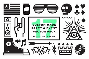 Vector Party & Event graphics