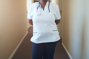 Female doctor nurse standing