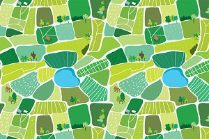Landscape seamless pattern vector