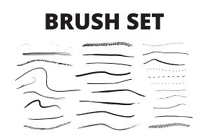 30 Brush Set for Illustrator