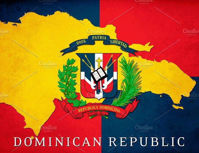 Dominican Republic Poster Illustrations Creative Market