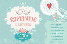 Romantic & Wedding Hand Drawn Set