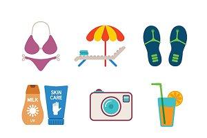 Beach style iconset