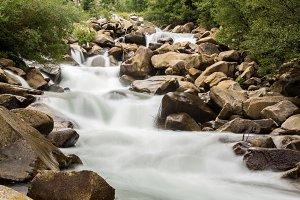 Rushing river between rocks