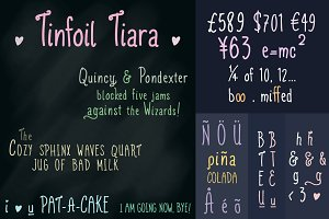 Tinfoil Tiara handwritten font