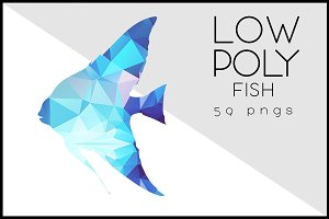 Blue Marlin Fish Jumping Low Polygon ~ Illustrations on ...