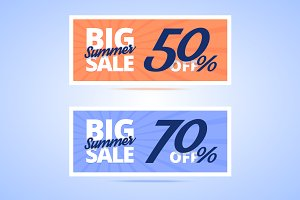 Big Summer Sale cards.