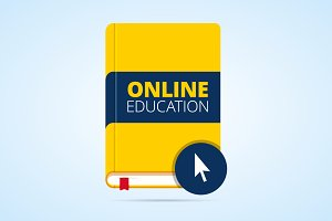 Online education illustration.