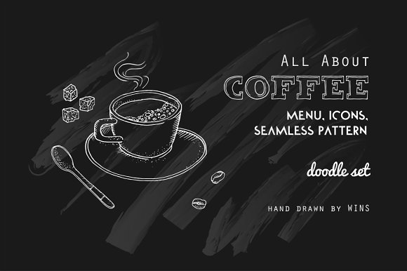 Coffeeshop. All About Coffee.  - Illustrations