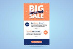 Big summer sale newsletter template.