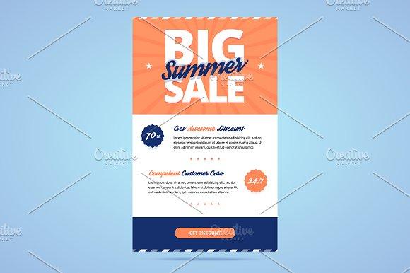 big summer sale newsletter template email templates creative market