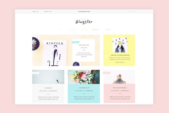 The Pastel Blogster 1.0 - Blog
