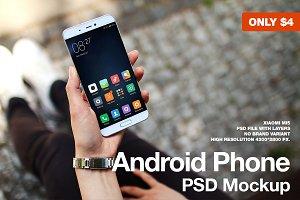 Android Phone Xiaomi Mi5 PSD Mockup